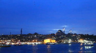Istanbul in blue Stock Footage