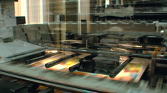 Printing house - stock footage