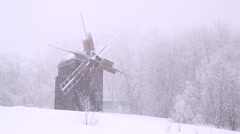 old mill winter - stock footage