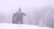 Stock Video Footage of old mill winter