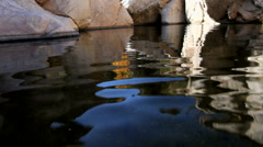 Water Rock Reflections Stock Footage