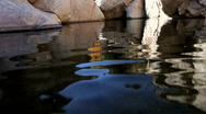 Stock Video Footage of Water Rock Reflections