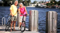 Fit & Healthy Seniors Stock Footage