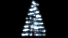 Christmas tree with falling snow. - stock footage
