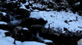 Winter 0031 High Mountains, Winter Season, Creek, Little River, Snow HD Footage