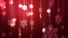 Festive Glass Snowflake Decorations HD Stock Footage