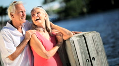 Healthy Couple Enjoying Retirement Stock Footage