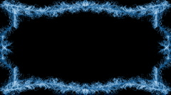 Blue swirls animated frame, holiday concept Stock Footage