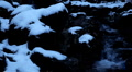 Winter 0038 High mountains, Creek, Winter Season, Snow, Little River, Spring Footage