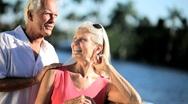 Portrait of a Loving Senior Couple Stock Footage