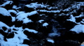 Winter 0040 High mountains, Creek, Winter Season, Snow, Little River, Spring HD Footage