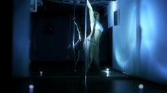 Pole dance woman Stock Footage