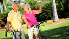Retirement Cycling Exercise Stock Footage