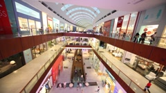 Dubai Mall from inside, with visitors in it in Dubai, UAE. Stock Footage