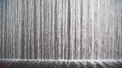 Close shot on artificial waterfall indoor Stock Footage