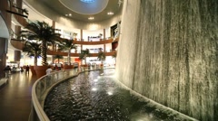 Close shot on beautiful waterfall inside Dubai Mall in Dubai, UAE. Stock Footage