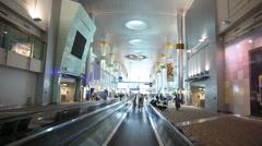 Dubai International Airport in Dubai, UAE. Stock Footage