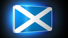Scotland 3d flag Stock Footage
