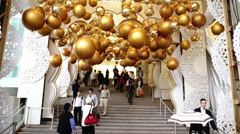 Stairway to Gold Balls Hong Kong  Stock Footage