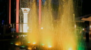 Fountain with color backlight Stock Footage