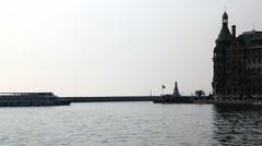 Ship berthing pier HD 1080p Stock Footage