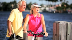 Healthy Exercise for Seniors Stock Footage