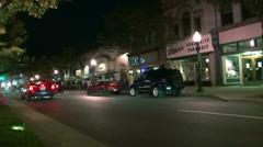 Suburban Night Lifestyles Stock Footage