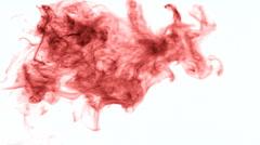 Red smoke - stock footage