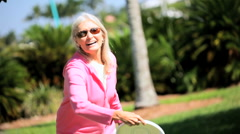 Senior Lady With a Zest for Life Stock Footage