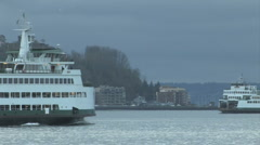 Washington State Ferries Crossing Stock Footage