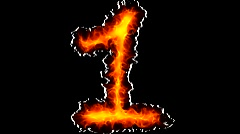 Fire number 1 graffiti Stock Footage