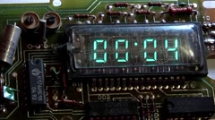 Timer gas discharge digital display Stock Footage