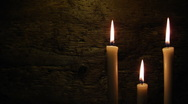 Stock Video Footage of three candles