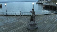 Seattle Waterfront Boardwalk Stock Footage