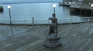 Seattle Waterfront Boardwalk Stock Footage