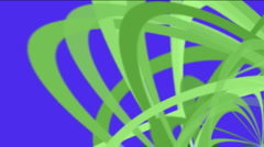 Green helix lines,spiral lines pattern.ribbon,Debris,broken pieces of paper,shre Stock Footage