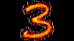 Fire number 3 graffiti Stock Footage