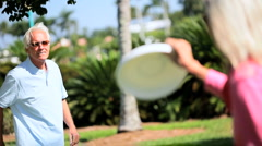 Keeping Fit With a Frisbee Stock Footage
