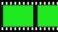 Green screen film animation Stock Footage