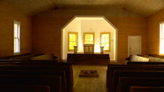 Inside historical church 01 Stock Footage