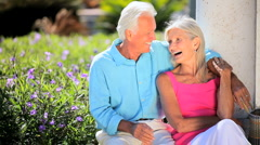 Affectionate Retired Couple  Stock Footage