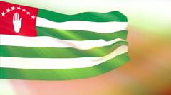 Flag of Abkhazia Stock Footage