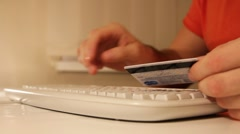 Internet purchase with credit card - stock footage
