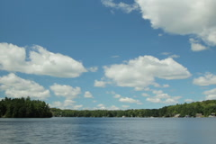 Timelapse clouds over lake. SD.  Stock Footage