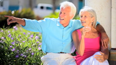 Retired Couple Enjoying Leisure Time Stock Footage