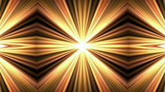Golden ray lights disco neon light tech optics particle design pattern. Stock Footage