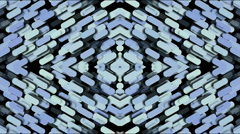 Paper shaped diamond fancy pattern,kaleidoscope,paper cutting.particle,symbol, Stock Footage