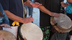 Drummers' hands Stock Footage