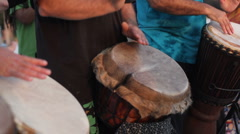 A trio of drummers Stock Footage
