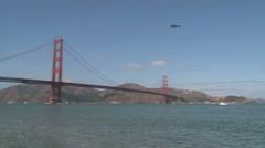 Blue Angels The Golden Gate Bridge Stock Footage